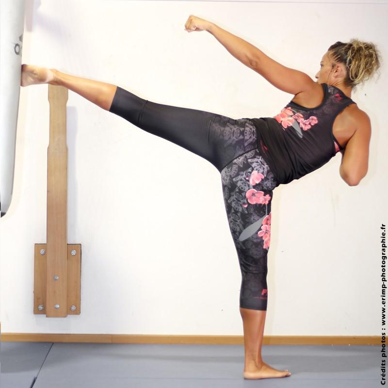 Débardeur de sport femme FIGHTING SPIRIT, élément bois.