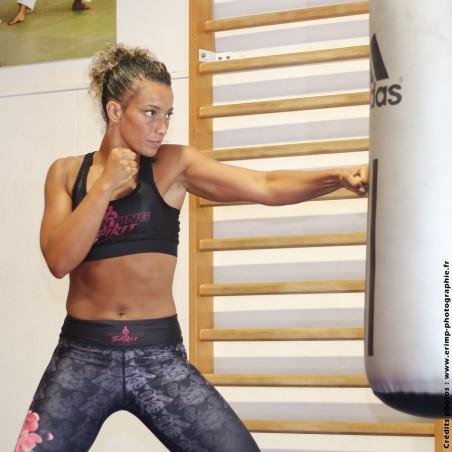 Brassière de sport femme FIGHTING SPIRIT, élément bois.