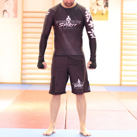 Short de mma homme FIGHTING SPIRIT, élément métal.