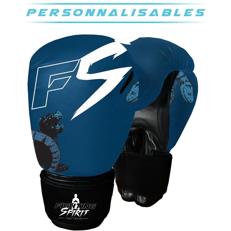 Gants de boxe personnalisables FIGHTING SPIRIT eau.