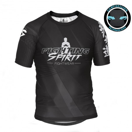 RASHGUARD HOMME MANCHES COURTES FIGHTING SPIRIT METAL