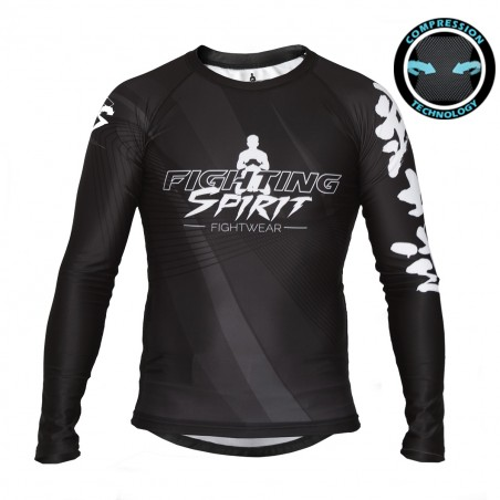 RASHGUARD HOMME MANCHES LONGUES FIGHTING SPIRIT METAL