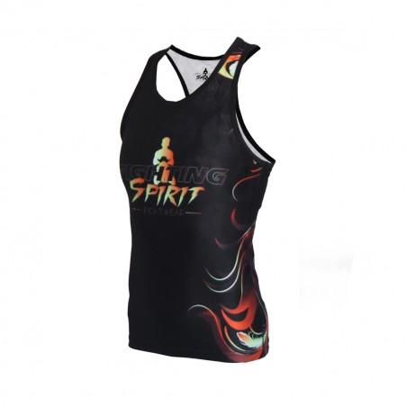 Débardeur de sport femme FIGHTING SPIRIT, élément feu.