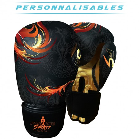GANTS BOXE FIGHTING SPIRIT FEU