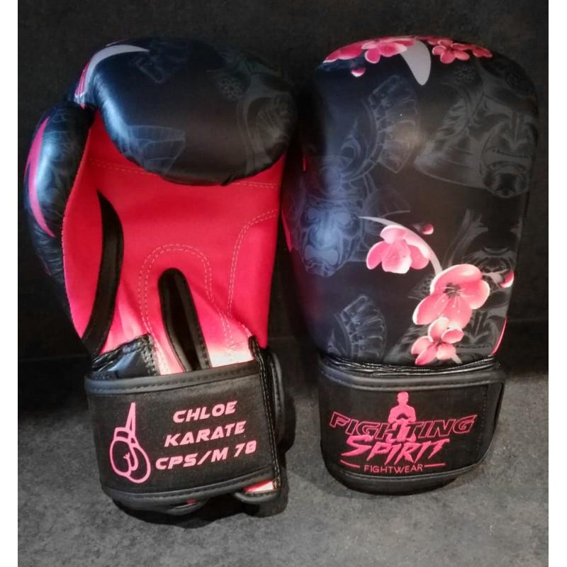 Gants de boxe personnalisables FIGHTING SPIRIT bois.