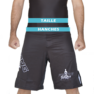 Mesures hauts de compression homme FIGHTING SPIRIT