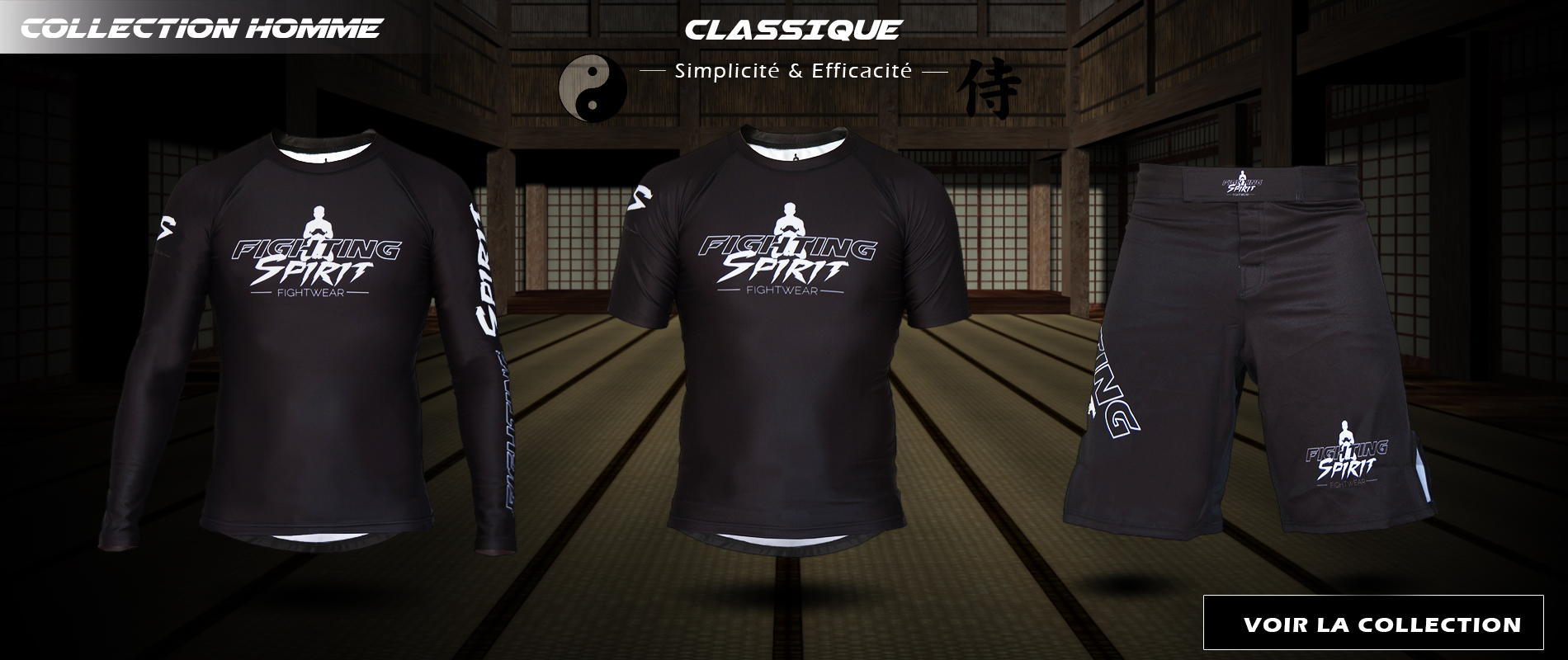 Collection classique homme FIGHTING SPIRIT