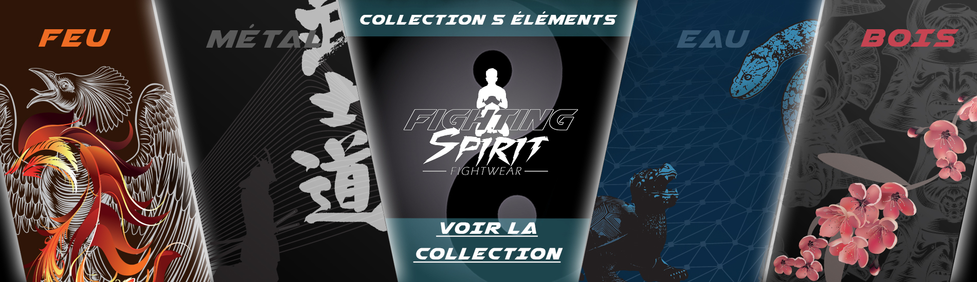 Collection 5 éléments FIGHTING SPIRIT