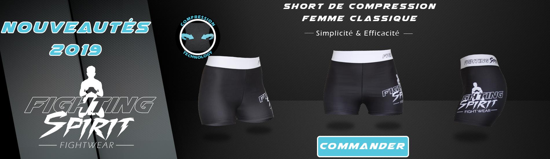 Nouveautés FIGHTING SPIRIT : Shorts de compression Femme
