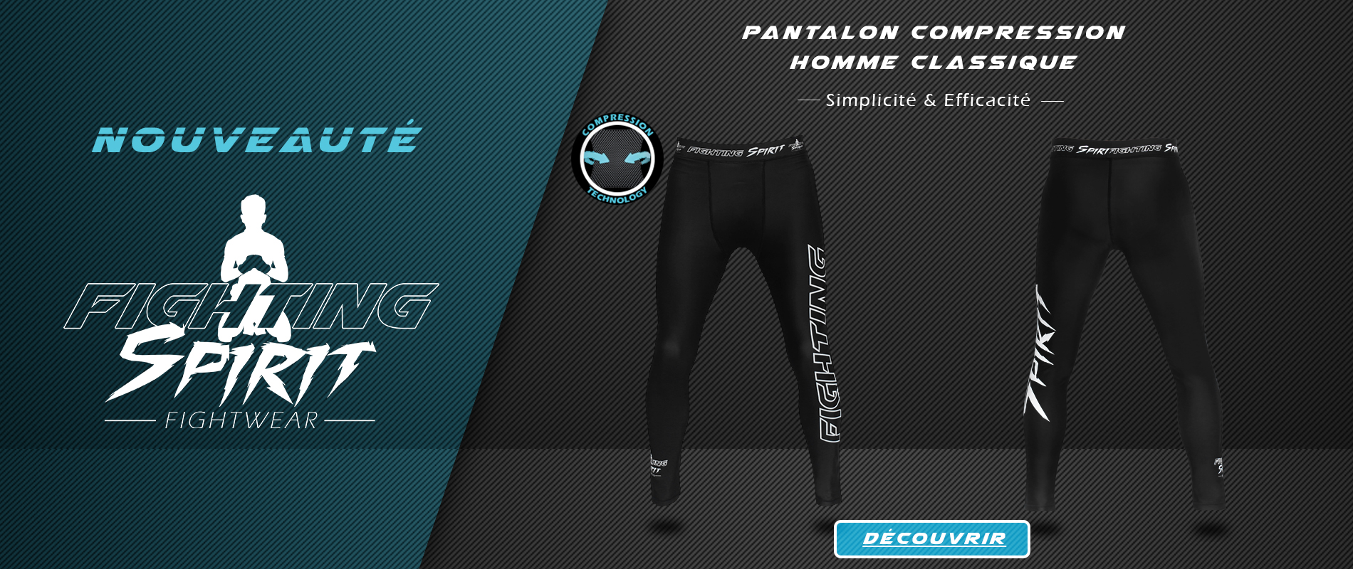 Nouveauté - Pantalon de compression Homme FIGHTING SPIRIT